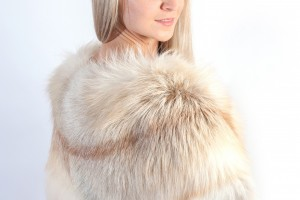 Bridal real fur stoles at weddingfur online store