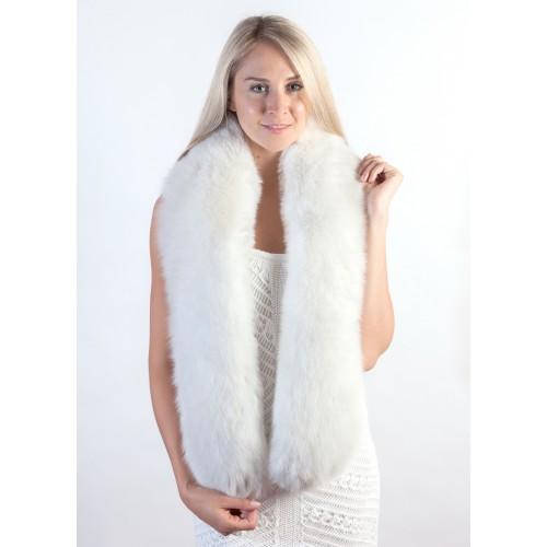 White Fur Stole >> White Fox Fur Scarf