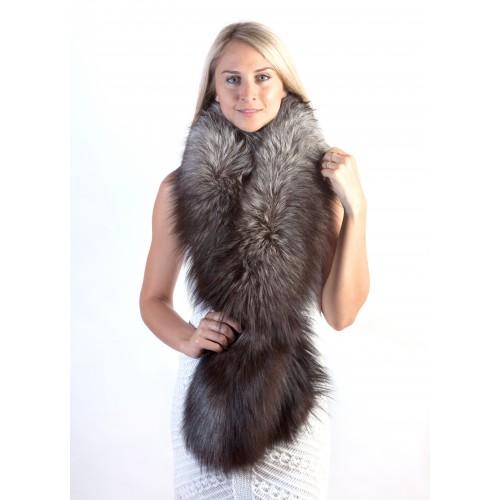 stylish silver fox fur scarf winter wedding real fur