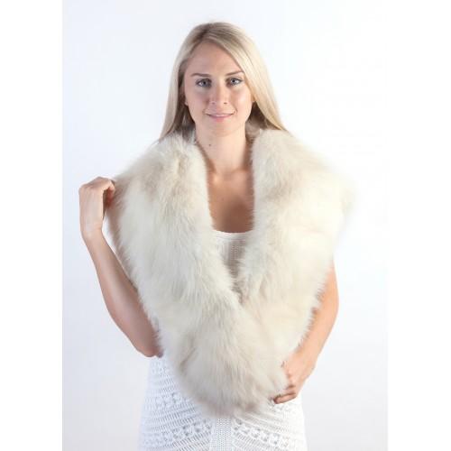 338d25619dbb6 White Fox Fur Collar