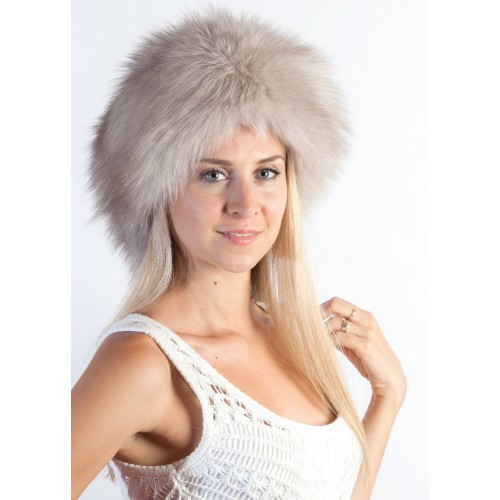 Grey Fox Fur Hat  76bc9b90351